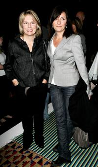 Jennifer Saunders and Davina McCall at the Betty Jackson show during the London Fashion Week Autumn / Winter 2008.