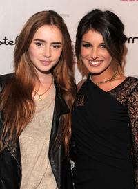 Lily Collins and Shenae Grimes at the benefit for St. Jude Children's Hospital hosted by Shenae Grimes.