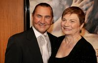 August Schellenberg and Joan at the premiere of