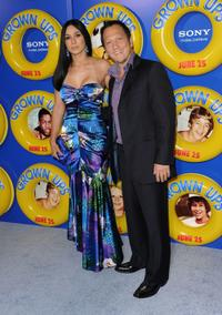 Rob Schneider and Guest at the New York premiere of