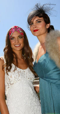 Shoona Stanes and Alice Parkinson at the 2010 Melbourne Cup Launch in Australia.