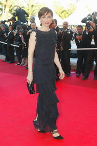 Kristin Scott Thomas at the 55th Cannes film festival in Cannes, France.