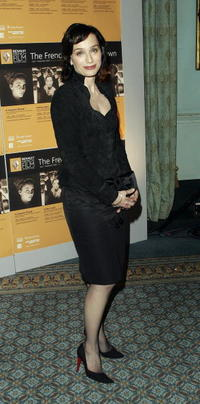 Kristin Scott Thomas at a photocall launching the third annual 'Renault French Film Season in London.