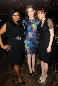 Mindy Kaling, Jennifer Maizel and Ellie Kemper at the ELLE Women In Television event in California.