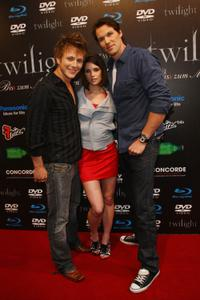 Charlie Bewley, Ashley Greene and Daniel Cudmore at the