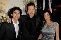 Jon Seda Jr., Jon Seda and Lisa at the premiere of