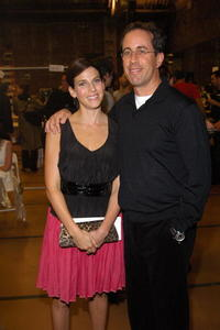 Jerry Seinfeld and wife Jessica at the Narciso Rodriguez Spring 2007 fashion show during Olympus Fashion Week in N.Y.