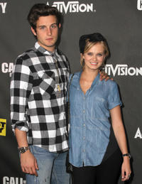 Nico Tortorella and Sara Paxton at the Launch party of