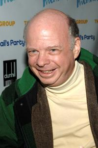 Wallace Shawn at the opening night party of