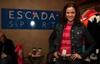 Ally Sheedy at the Escada Sport Display at the Gibson Guitar Lounge on Main Street.