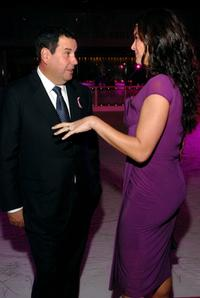 Brooke Shields and Saks CEO Steve Sadove at the Saks Fifth Avenues Viva La Cure to kickoff the