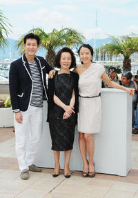 Lee Jung-Jae, Youn Yuh-jung and Jeon Do-yeon at the photocall of