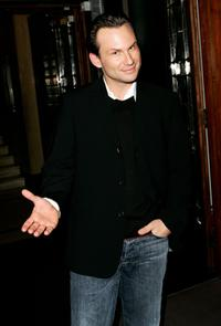 Christian Slater at the Skymag launch party.