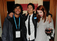 Brennan Mejia, director Gregg Araki and Nicole LaLiberte at the Cocktail Reception of