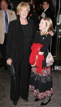 Maggie Smith and Guest at the world premiere of