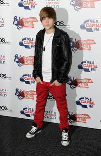 Justin Bieber at the Capital Radio Summertime Ball in London.