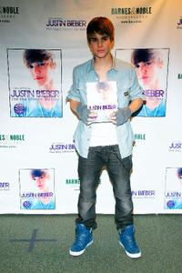 Justin Bieber at the promotion of his new book
