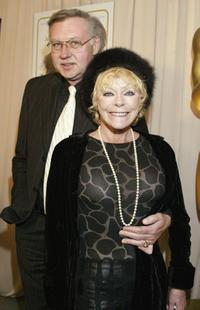 Elke Sommer and her husband Wolf Walther at the reception in honor of director Blake Edwards who will receive an Honorary Oscar at the 76th Academy Awards.