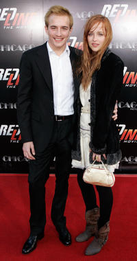 Jesse Johnson and Dakota Johnson at the California premiere of