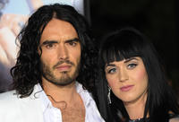 Russell Brand and Katy Perry at the premiere of