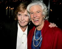 Anne Meara and Frances Sternhagen at the after party of the opening night of
