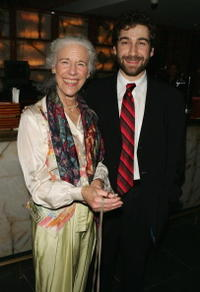 Frances Sternhagen and Director Scott Schwartz at the after party of the opening night of