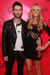 Adam Levine and Anne Vyalitsina at the after party of 2010 Victoria's Secret Fashion Show in New York.