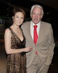 Donald Sutherland and Diane Lane at the premiere of Autonomous Picture's