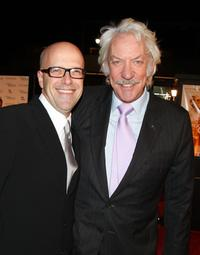 Donald Sutherland and Donald De Line at the premiere of Pictures