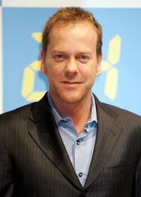 Kiefer Sutherland at the press conference promoting Season IV DVD Collector's Box of