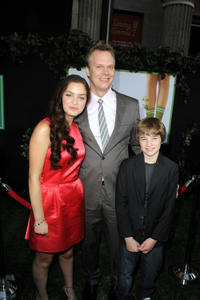 Odeya Rush, director Peter Hedges and CJ Adams at the California premiere of