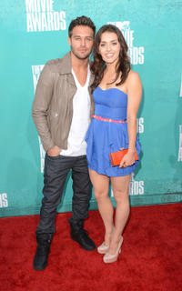 Ryan Guzman and Kathryn McCormick at the 2012 MTV Movie Awards in California.