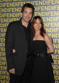 Jon Tenney and guest at the Fendi celebration of the redesign of its Rodeo Drive flagship store.