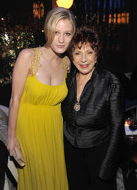 Ashley Hinshaw and Hollywood Foreign Press Association President Dr. Aida Takla-O'Reilly at the Hollywood Foreign Press Association (HFPA) and InStyle presents