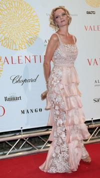 Uma Thurman at the celebration of the 45th anniversary of luxury brand Valentino's post haute couture show gala dinner and ball in the Parco dei Daini.