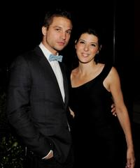 Logan Marshall-Green and Marisa Tomei at the after party of the California premiere of