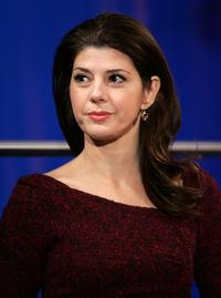 Marisa Tomei announces the Critic's Choice Awards nominees at VH1's Times Square headquarters.