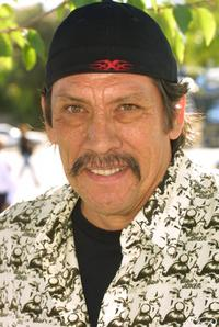 Danny Trejo at the opening of the 200th Baja Fresh restaurant.