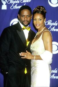 Blair Underwood and Vivica A. Fox at the 26th Annual People's Choice Awards.