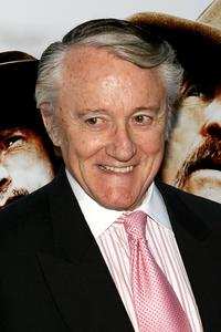 Robert Vaughn at the premiere of AMC's