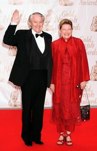 Robert Vaughn and Diane Wiest at the Gold Nymph awards ceremony at the 44th Monte-Carlo Television Festival.