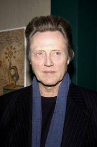 Christopher Walken at the Film Society of Lincoln Center.