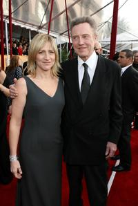 Christopher Walken and Edie Falco at the 14th annual Screen Actors Guild awards.