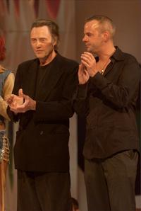 Christopher Walken and Fatboy Slim at the 2001 MTV Video Music Awards.