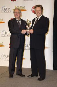 Christopher Walken and Barry Levinson at the 2003 ShoWest Awards Ceremony.