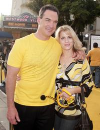 Patrick Warburton and Kathy at the premiere of