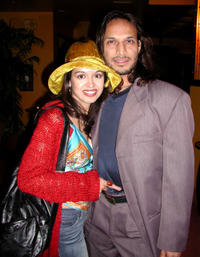 Valeria Hernandez and Jesse Borrego at the after party of the California premiere of