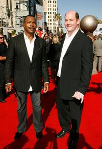Carl Weathers and Guest at the 35th Anniversary of Gold's Gym.