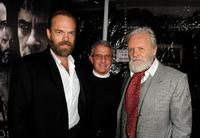 Hugo Weaving, Ron Meyer and Anthony Hopkins at the California premiere of