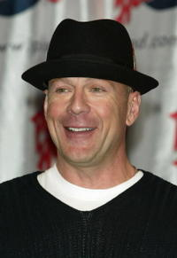 Bruce Willis at Planet Hollywood.